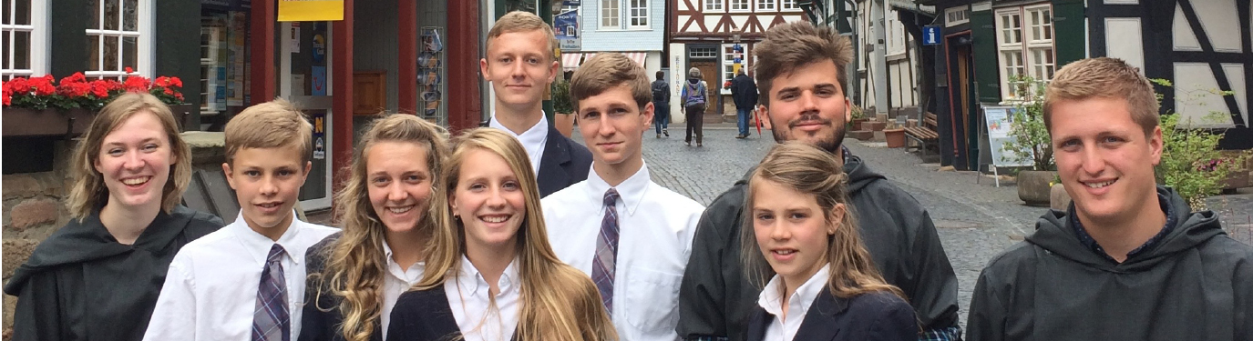 Interns and Students with a bunch of Wonky German Houses